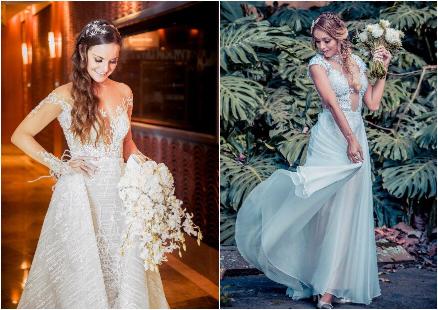 Cómo combinar tu vestido de novia con el ramo de flores: consejos para cada corte y estilo