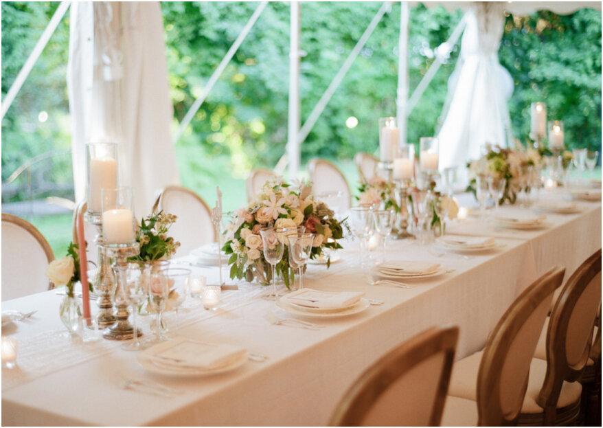 5 errores en la decoración del banquete de bodas: ¡cuida todos los detalles!