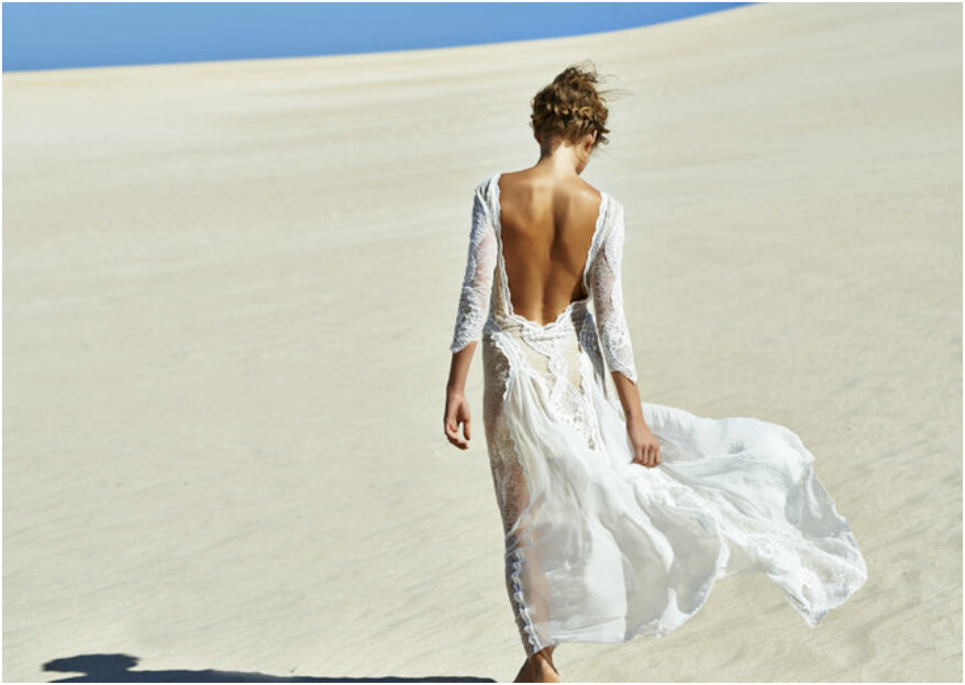 Vestido de novia para boda en la playa: ¡5 consejos para impresionar al mar!